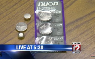 """Button Battery"" burns through child's throat"